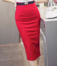 Load image into Gallery viewer, Ladies Skirt Ol Women Slim Fitted Knee Length Waist Straight Career Pe-iuly.com