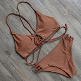 Summer Mesh Brazilian Bikini Women Swimwear Bandage Bikinis Push Up Sw-iuly.com