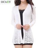 Hollow Out Women Sweater Knitted Long Cardigans Summer Cardigan Beach-iuly.com