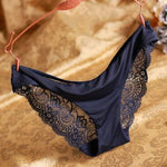 Women'S Lace Panties Seamless Panty Briefs Blue Underwear Comfortable-iuly.com