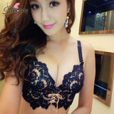 Delicate Embroidery Lace Bra Sets B Cup Adjustable Push Up Bra With Pa-iuly.com