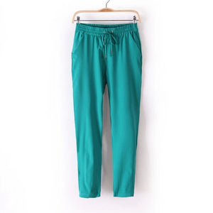 7 Colors Casual Summer Women Pants Chiffon Elastic Waist Rainbow Harem-iuly.com