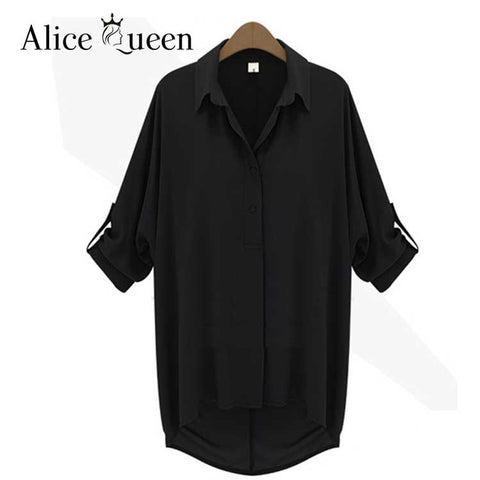Alice Queen 4Xl 5Xl 6Xl Women Blouses Summer Ladies Tops Chiffon Blous-iuly.com