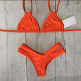 Femme Bikini Straped Swimsuit Bikinis Women Swimwear Bathing Suit Prin-iuly.com