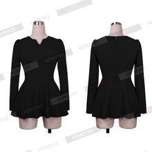 Load image into Gallery viewer, America Style Women Long Sleeve Ruffles Peplum Tops Blouse Office Lady-iuly.com