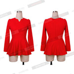America Style Women Long Sleeve Ruffles Peplum Tops Blouse Office Lady-iuly.com