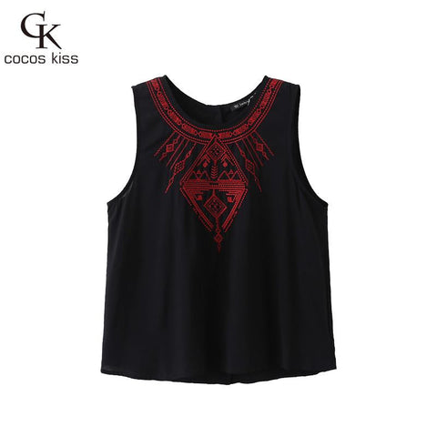 Ladies' Elegant Embroidery Short Crop Blouses Back Button Vintage O Ne-iuly.com