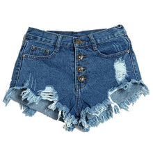 Load image into Gallery viewer, Amazing Summer Women'S Lady Slim Fit Bore Hole Denim Shorts-iuly.com