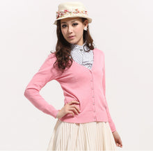 Load image into Gallery viewer, Arrived Women Clothing Candy Color Sweater Knitted Cardigan Long-Sleev-iuly.com
