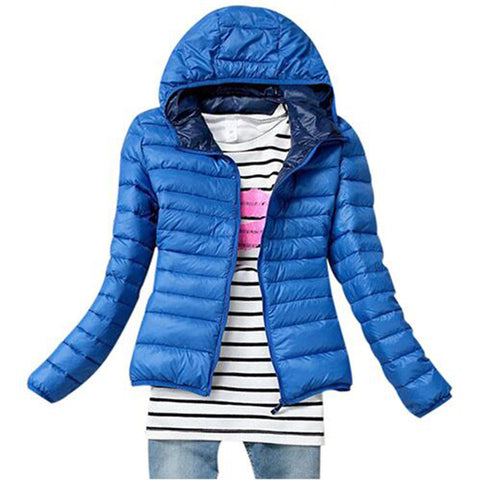 5 Color Winter Jacket Women Outerwear Slim Hooded Down Jacket Woman Wa-iuly.com