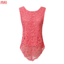 Load image into Gallery viewer, 4Xl 5Xl Big Size Lace T Shirt Women Crochet Clothing Mujer Casual T-Sh-iuly.com