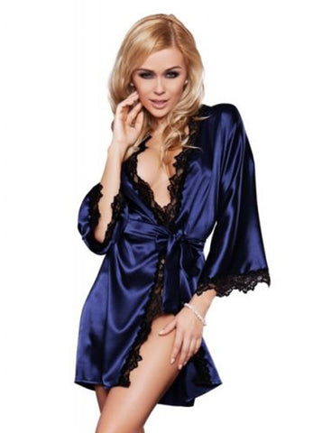 Luxury Women Nightwear Satin Dressing Gown Robe Kimono Sleepwear Ling-iuly.com