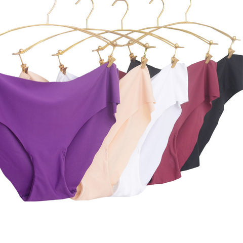 6 Colors Women Seamless Briefs M-Xl Plus Size Panties Ultra-Thin Trace-iuly.com