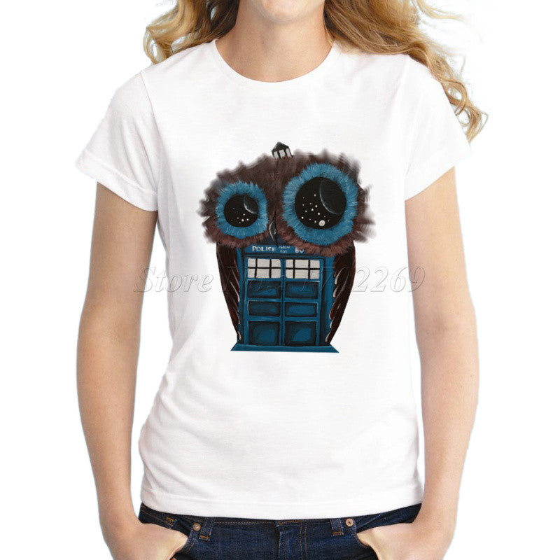Design Women'S Doctor Who Cartoon Printed T Shirt Lady Novelty Funny T-iuly.com