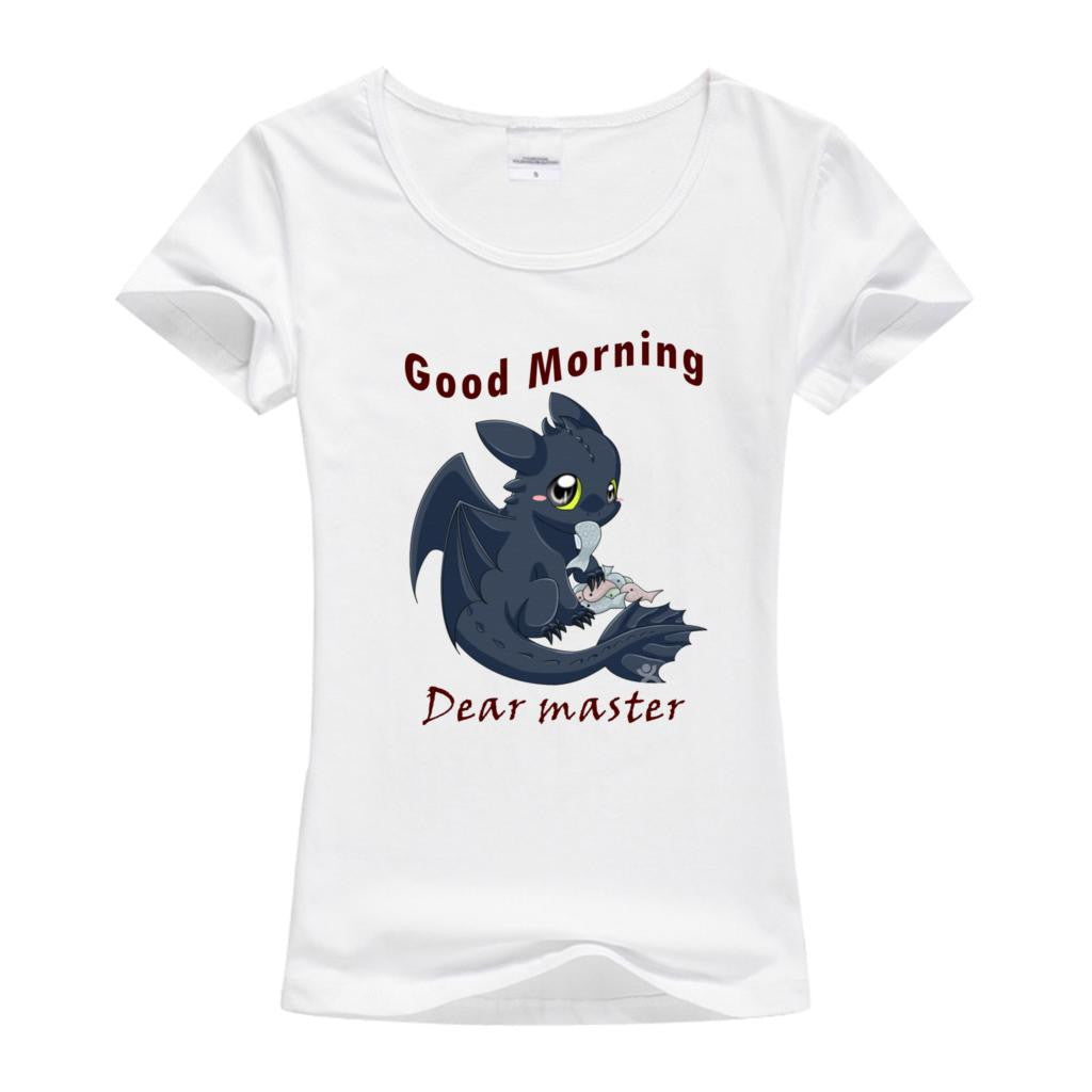 Lovely Top Tees How To Train Your Dragon Women'S T Shirt Toothless Pat-iuly.com