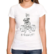 Load image into Gallery viewer, Go Hard Or Go Home Animal Pug Training Design Women'S Printed T Shirt-iuly.com
