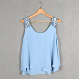 Amazing Summer Women Loose Chiffon Strapless Tops Tank Crop Top Women-iuly.com