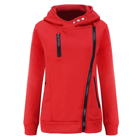 Winter Casual Long-Sleeved Hooded Zipper Hooded Sweatshirt And Warm J-iuly.com