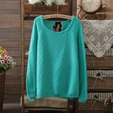 Autumn Winter Women Sweaters Knitted Sweater O-Neck Tops Outwear-iuly.com