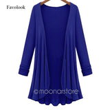 Cardigan Women Poncho Crochet Knit Tops Thin Blouse Long Sleeve Cardig-iuly.com