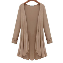 Load image into Gallery viewer, Cardigan Women Poncho Crochet Knit Tops Thin Blouse Long Sleeve Cardig-iuly.com