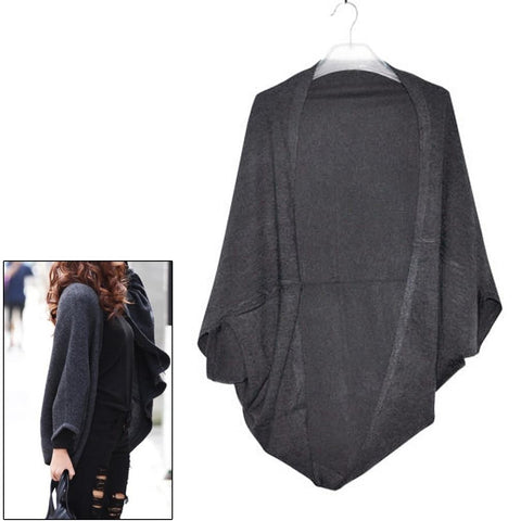 Imc Women'S Batwing Top Knit Cape Cardigan Three Quarter Sleeve Knitwe-iuly.com
