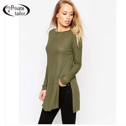 Autumn American Style Long Sleeve Pullover Knitted Sweater For Women T-iuly.com