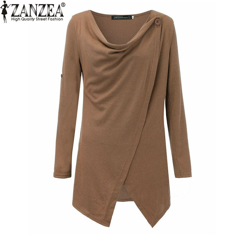 Design Autumn Winter Women Casual Solid Sweaters Pullovers Long Sleeve-iuly.com