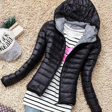 Load image into Gallery viewer, Autumn Winter Women Basic Sport Jacket Coat Female Slim Hooded Cotton-iuly.com