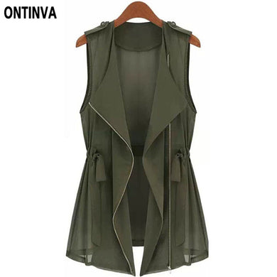 5Xl 4Xl 3Xl Plus Size Women Tops Summer Style With Zipper Army Green J-iuly.com
