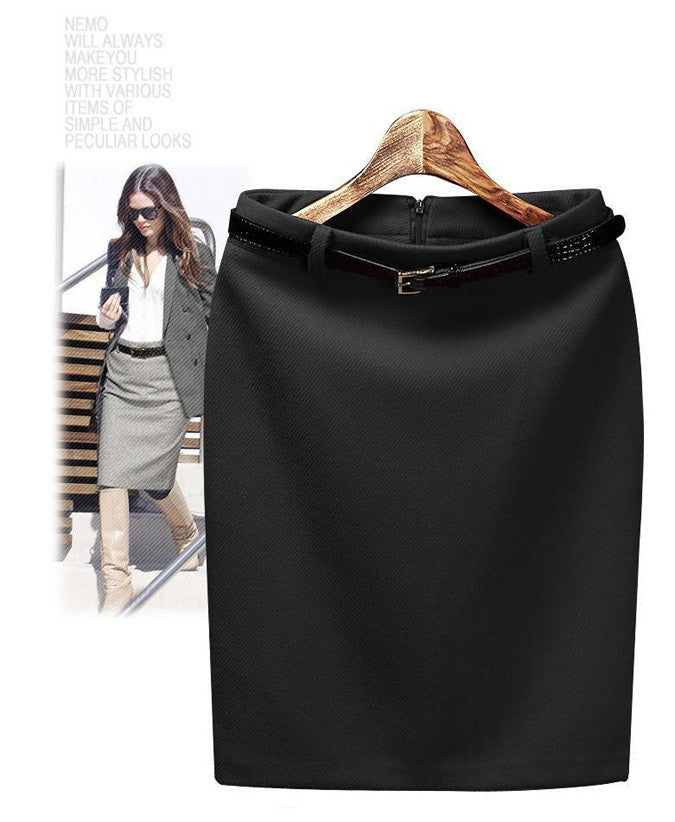 Dingtoll Winter Warm Women'S Vacation Saia Faldas Pencil Skirt Elegant-iuly.com