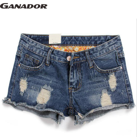 Ganador Women Shorts Summer Women Jeans Denim Shorts Hip Hop Cool Patc-iuly.com