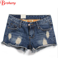 Load image into Gallery viewer, Ganador Women Shorts Summer Women Jeans Denim Shorts Hip Hop Cool Patc-iuly.com