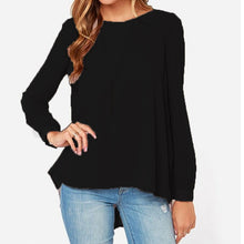 Load image into Gallery viewer, Autumn Women Oversized Casual Loose Chiffon Tops Long Sleeve Solid Shi-iuly.com