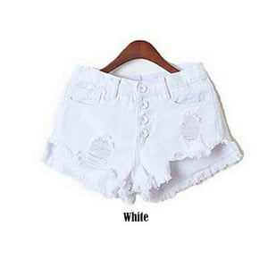 Blue Jeans Shorts Women Tassel Waist Summer Mini Denim Shorts For Woma-iuly.com