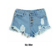 Load image into Gallery viewer, Blue Jeans Shorts Women Tassel Waist Summer Mini Denim Shorts For Woma-iuly.com