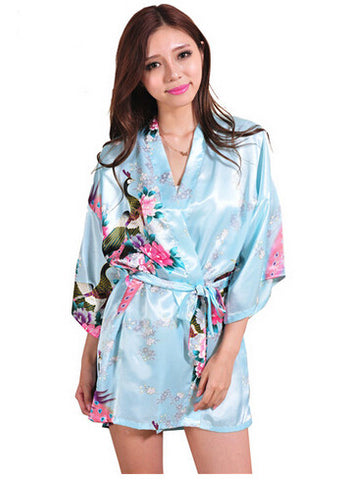 Rb015 Satin Robes For Brides Wedding Robe Sleepwear Silk Pijama Casual-iuly.com