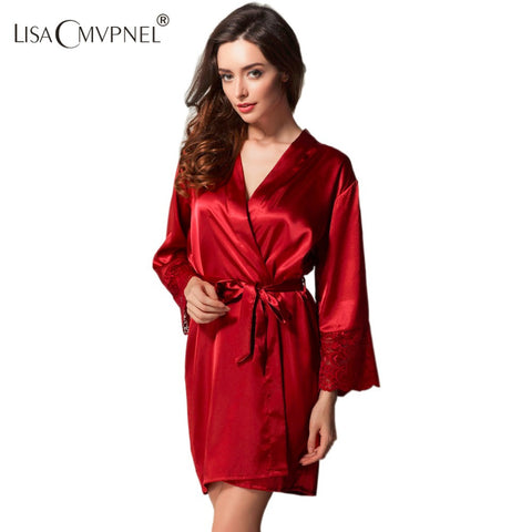 On Sleepwear Silk Spaghetti Strap Nightgown Women'S Lace Silk Sleepwea-iuly.com