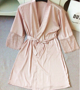 Women'S Nightwear Bathing Robes Sleepwear For Female Real Silk M L Xl-iuly.com