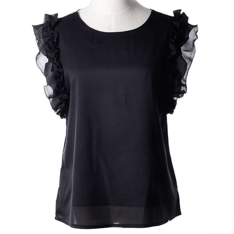 Cute Summer Tops Shirt Women Blusas S-Xl O Neck Puff Sleeve Pullover L-iuly.com