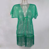 Andzhelika Summer Womens Beach Cover Up Hollow Lace Crochet Beachwear-iuly.com