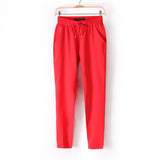 Favolook Casual Women Pants Summer Elastic Waist Office Ol Slim Lady H-iuly.com