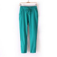 Load image into Gallery viewer, Casual Women Chiffon Pants Elastic Waist Solid Color Office Ol Pants S-iuly.com