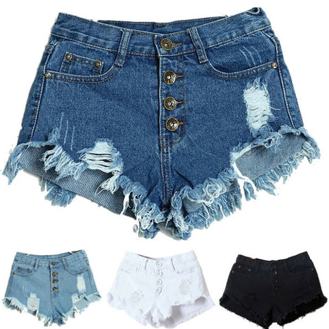 Amazing Summer Women'S Lady Slim Fit Bore Hole Denim Shorts-iuly.com