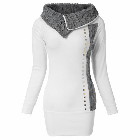 Gamiss Women Sweaters And Pullovers Turn-Down Collar Knitted Sweater R-iuly.com