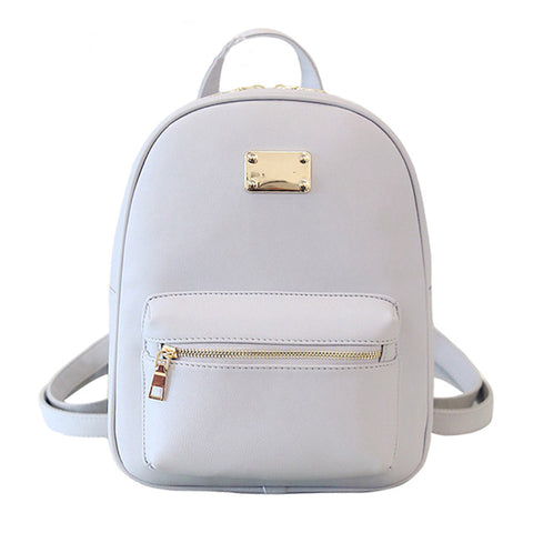 Women Backpack Small Size Black Pu Leather Women'S Backpacks School Bags-iuly.com