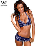Bikinis Women Swimsuit Retro Push Up Bikini Set Vintage Plus Size Swimwear Bathing-iuly.com
