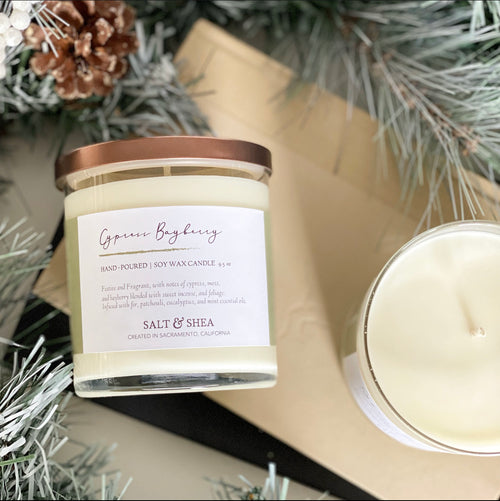 Cypress Bayberry Soy Wax Candle