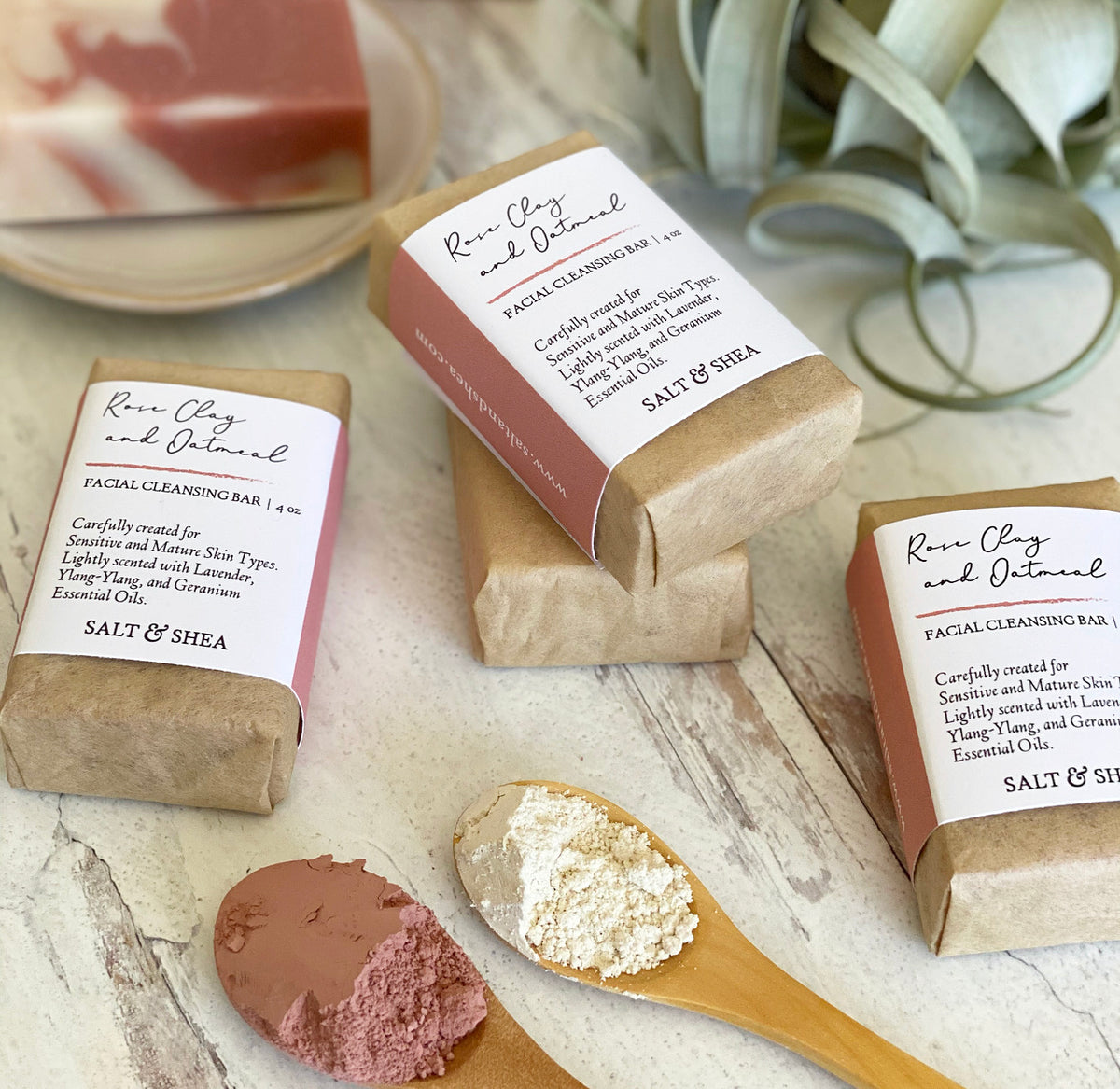 Rose Clay and Oatmeal Facial Soap