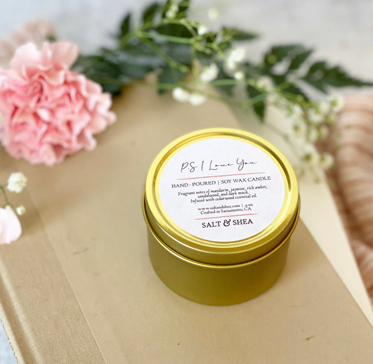 P.S. I Love You Soy Wax Candle